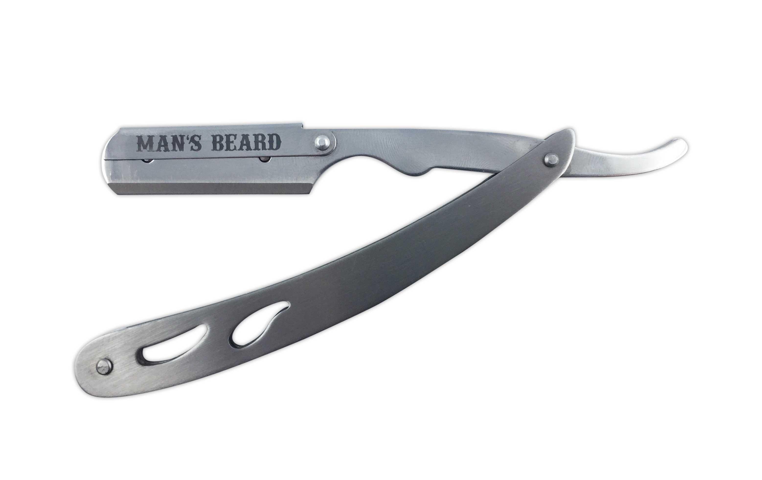Man 39 s beard shavette acier acier gris man 39 s beard les marques de produits - Acier s ...