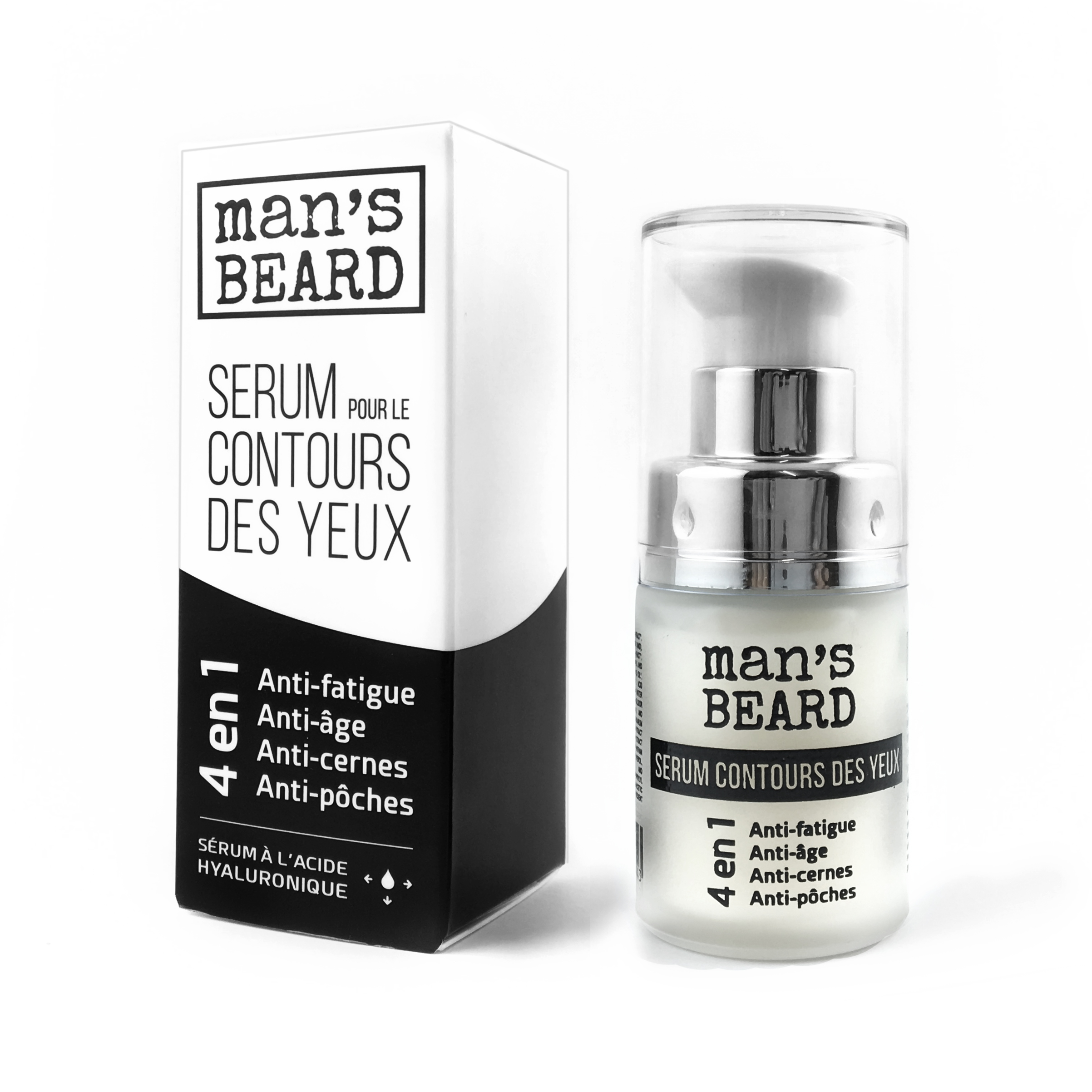 Man s Beard - Sérum Contour des Yeux à l Acide Hyaluronique - 15 ml ... 6f52a10fec3